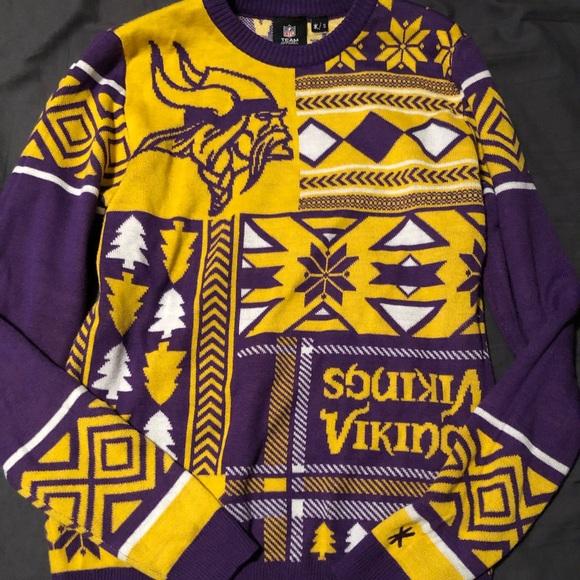watch a85b2 b0cd3 Minnesota Vikings Ugly Sweater